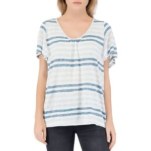 B Collection by Bobeau Emile Flutter Sleeve Tee